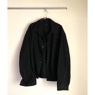 コモリ(COMOLI)のCOMOLI 2019AW ブラックデニムジャケット(Gジャン/デニムジャケット)