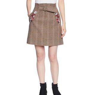 ジルバイジルスチュアート(JILL by JILLSTUART)のジルバイジルスチュアート JILL BY JILLSTUART 刺繍 スカート(ひざ丈スカート)