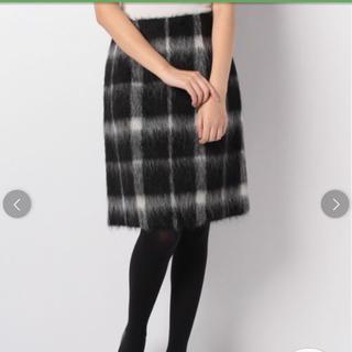 アナイ(ANAYI)のANAYI シャギーチェックAラインスカート(ひざ丈スカート)
