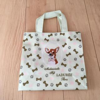 ラデュレ(LADUREE)のラデュレ トートバッグ グリーン 犬 緑 ドッグ(トートバッグ)