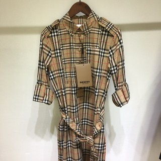 BURBERRY - Burberry  Belted checked シャツドレス