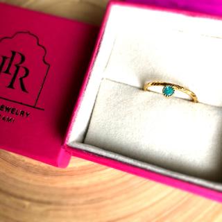 アッシュペーフランス(H.P.FRANCE)のパライバトルマリン  リング 水金地火木土天冥海 jaipur jewelry(リング(指輪))