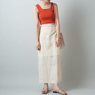 カスタネ(Kastane)の刺繍ジャガードスカート(ロングスカート)