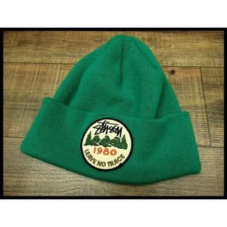 ステューシー(STUSSY)の希少 ステューシー 1980ストックロゴ ワッペン ニット帽 ビーニー キャップ(ニット帽/ビーニー)