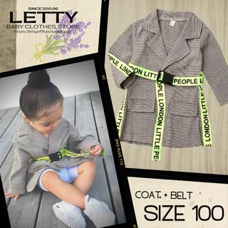 キッズ服 kids 子供服 グレンチェック アウター 100 ジャケット コート(ジャケット/上着)
