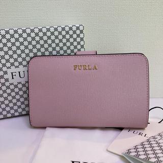 フルラ(Furla)の美品 FURLA フルラ バビロン カメリア 二つ折り 財布(折り財布)