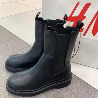 エイチアンドエム(H&M)のハイプロファイルチェルシーブーツ エイチアンドエム 40 サイドゴア(ブーツ)