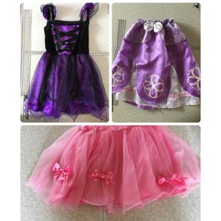 サンリオ(サンリオ)の☆お値段変わらず内容追加☆ハロウィン魔女の衣装&ぼんぼんリボンのスカートのセット(衣装一式)