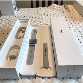 アップルウォッチ(Apple Watch)のApple Watch  series3 セルラー 38mm silver al(スマートフォン本体)