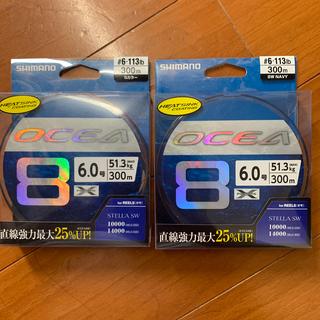 シマノ(SHIMANO)のシマノ オシア8 6号 300m 新品未使用 5カラーSWネイビーセット(釣り糸/ライン)