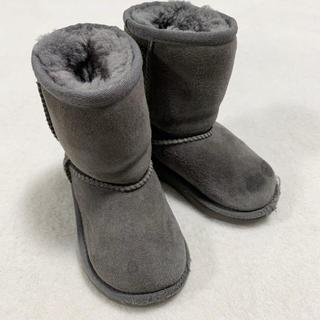 アグ(UGG)のUGG アグ ムートンブーツ キッズ グレー 15cm シューズ 子供用(ブーツ)