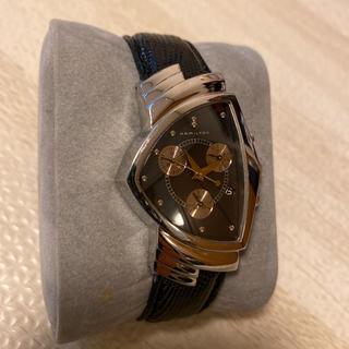 ベンチュラ(VENTURA)の人気品! HAMILTON ベンチュラ 6345 クロノグラフ ウィルスミス 銀(腕時計(アナログ))