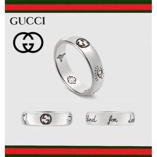 グッチ(Gucci)の【新入荷】GUCCI ブラインド フォー ラブ シルバー リング 9号(リング(指輪))