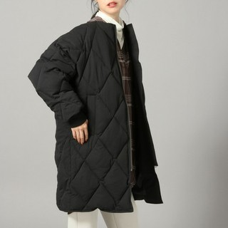 ローリーズファーム(LOWRYS FARM)のローリーズファーム ナカワタ 中綿 キルティング コート 黒(その他)