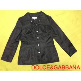 ドルチェアンドガッバーナ(DOLCE&GABBANA)のDOLCE&GABBANA   ドルチェ&ガッバーナ  ジャケット  黒  美品(テーラードジャケット)
