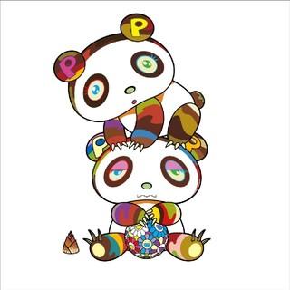 メディコムトイ(MEDICOM TOY)の村上隆 最新作 パンダ 版画 ドラえもん ED1桁 良番 寝かせ投資(版画)