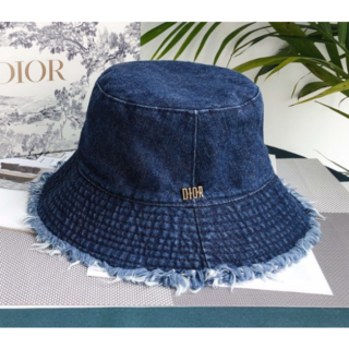 Dior - 【Dior】2020SS新作 ブルー デニム フリンジ ボブハット