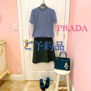 プラダ(PRADA)のプラダ ボックス型スカート 40(ひざ丈スカート)