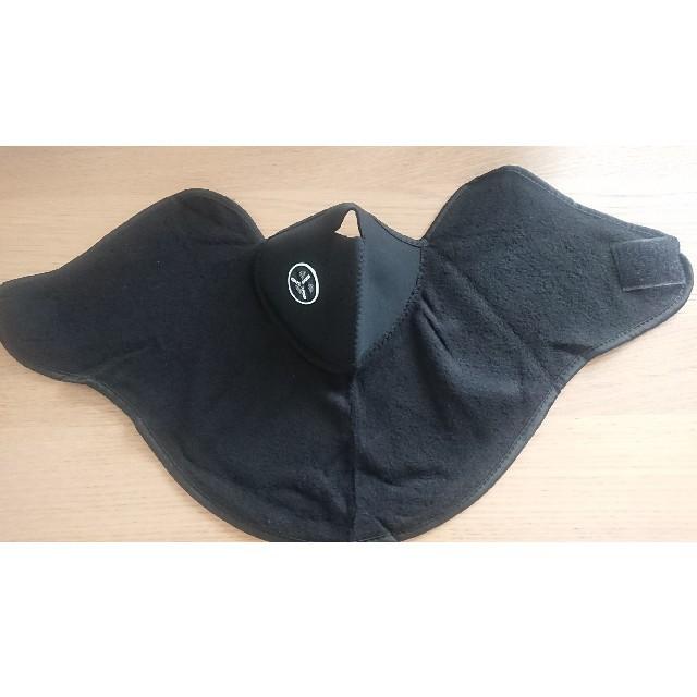 バイク 防寒 フェイスマスク ネックウォーマー ブラック 自動車/バイクのバイク(装備/装具)の商品写真