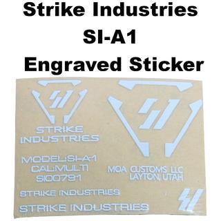 Strike Industries SI-A1 刻印 ステッカー 1248r(カスタムパーツ)