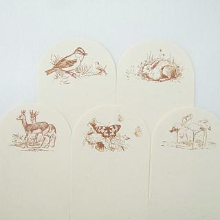 N25A 海外 メモパッド 30枚入 動物 メモ用紙 紙もの メモ帳 しおり 鹿(ノート/メモ帳/ふせん)