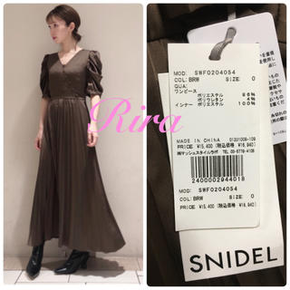 snidel - 完売色🌷新作新品🍀スナイデル サテンパフスリーブワンピース