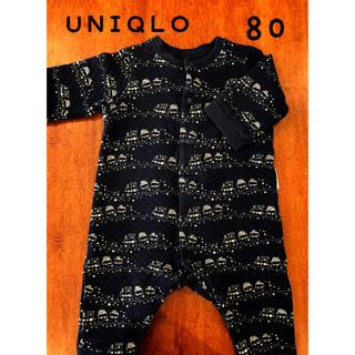 UNIQLO - ユニクロ ロンパース  80