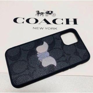 コーチ(COACH)のコーチxディズニー限定コラボ iPhone11ケース ダンボ シグネチャー(iPhoneケース)