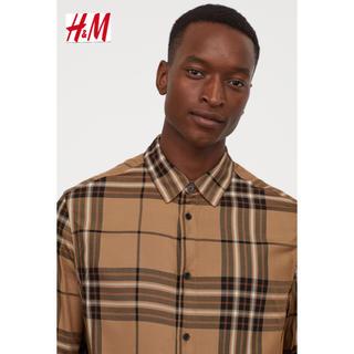 エイチアンドエム(H&M)の新品 H&M Burberry モデル チェックシャツ Mサイズ(シャツ)