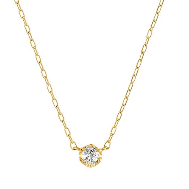 4℃(ヨンドシー)のオデュース 4℃ ダイヤモンド ネックレス K18 イエローゴールド レディースのアクセサリー(ネックレス)の商品写真