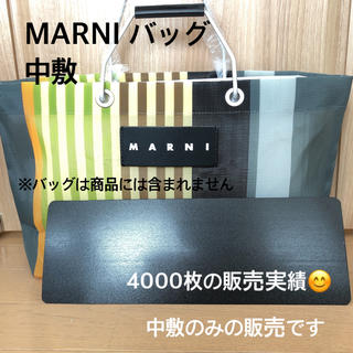Marni - マルニ MARNI ストライプバッグ トートバッグ 中敷  底板
