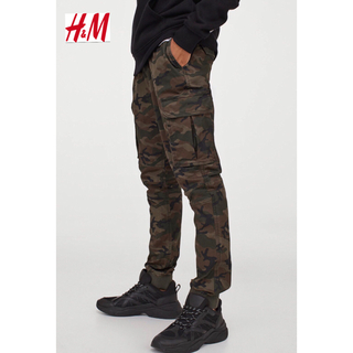 エイチアンドエム(H&M)の新品 H&M ジョガー カーゴパンツ 迷彩 Sサイズ(ワークパンツ/カーゴパンツ)