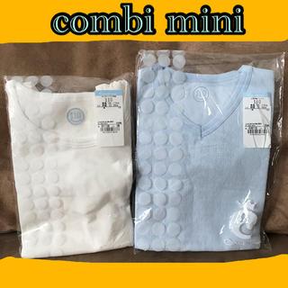 コンビミニ(Combi mini)の110 コンビミニ 肌着 半袖 タンクトップ 綿100% あったか肌着 普通肌着(下着)