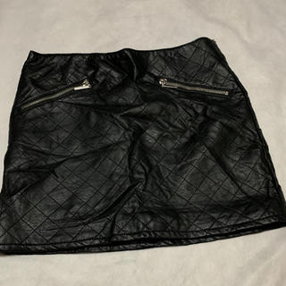 レザー スカート 黒