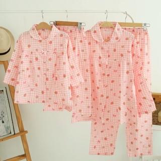 レディース ルームウェア 長袖 パジャマ ピンク 部屋着 セットアップ 新品