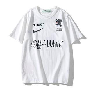 オフホワイト(OFF-WHITE)の二枚8000円OFF WHITEオフホワイト半袖Tシャツ109#(Tシャツ(半袖/袖なし))