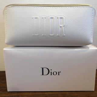 クリスチャンディオール(Christian Dior)の【新品】Dior ディオール 2020年 スクエア ホワイト ポーチ(ポーチ)