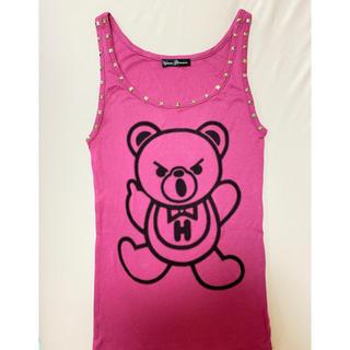 ヒステリックグラマー(HYSTERIC GLAMOUR)のヒステリックグラマー❤人気完売❤ファックベア❤スタッズ❤タンクトップ❤トップス(Tシャツ(半袖/袖なし))