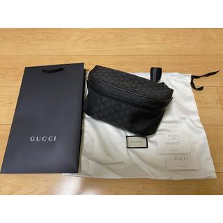 Gucci - 美品 グッチ ウエストバッグ GGナイロンキャンバス ブラック