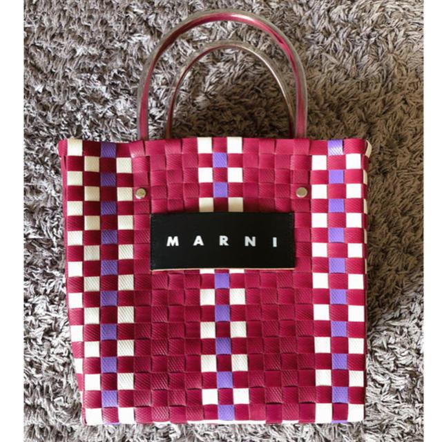 Marni(マルニ)のマルニMARNI♡フラワーカフェ ピクニックバック パープル かごバッグ レディースのバッグ(かごバッグ/ストローバッグ)の商品写真