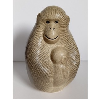 リサラーソン(Lisa Larson)の【希少】リサ・ラーソン 陶器 猿の親子(置物)