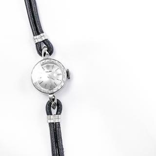 ロレックス(ROLEX)の【仕上済】ロレックス カットガラス K14 ホワイトゴールド レディース 時計 (腕時計)