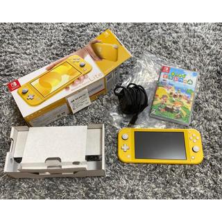Nintendo Switch - 美品 保証付き 任天堂 Switch lite イエロー どうぶつの森セット