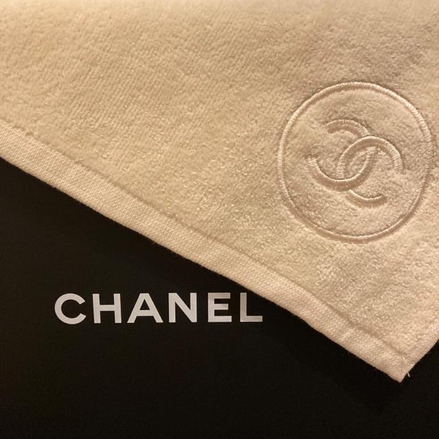 CHANEL(シャネル)のシャネル タオル ノベルティ サブリマージュ タオル クリーム レディースのファッション小物(ハンカチ)の商品写真