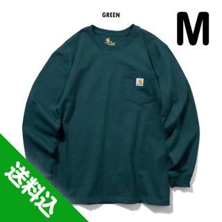 carhartt - 【M】CARHARTT カーハート K126 ポケット ロンT グリーン