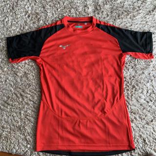 ミズノ(MIZUNO)のミズノプラシャツ  Mサイズ 赤(ウェア)