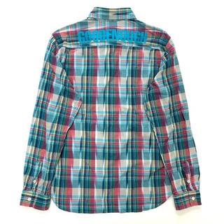 GOODENOUGH - 状態良好 GOODENOUGH バックロゴ マドラスチェック シャツ L