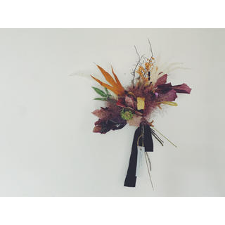 スモークツリー の秋色スワッグブーケL(ドライフラワー)