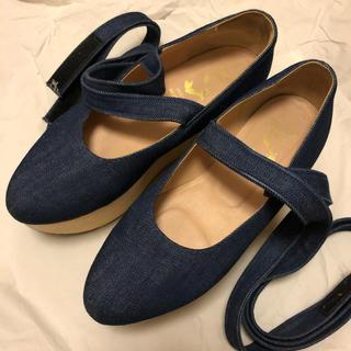 ヴィヴィアンウエストウッド(Vivienne Westwood)のVivienne westwood ロッキンホースバレリーナ デニム(ローファー/革靴)