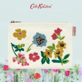 キャスキッドソン(Cath Kidston)の新品 キャスキッドソン Cath Kidston 花柄 刺繍 ポーチ(ポーチ)